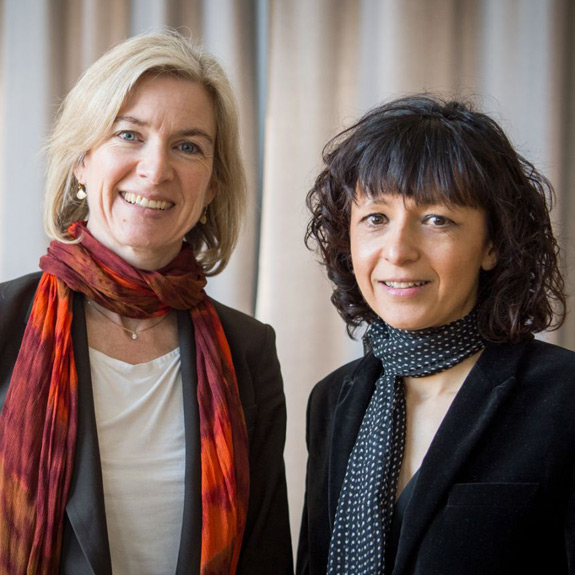 Jennifer A. Doudna and Emmanuelle Charpentier